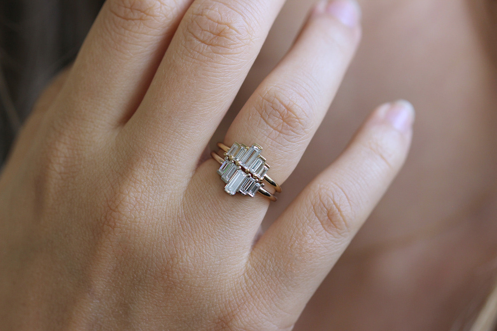 Baguette Engagement Ring In A Set