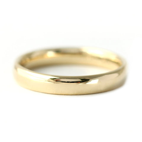 Basic Wedding Band - Comfort Fit Gold Wedding Band