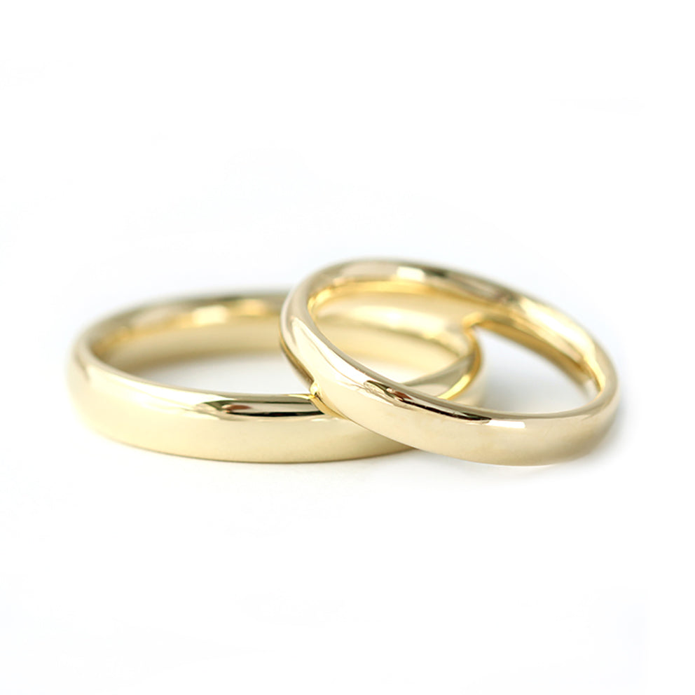 Comfort Fit Gold Wedding Band