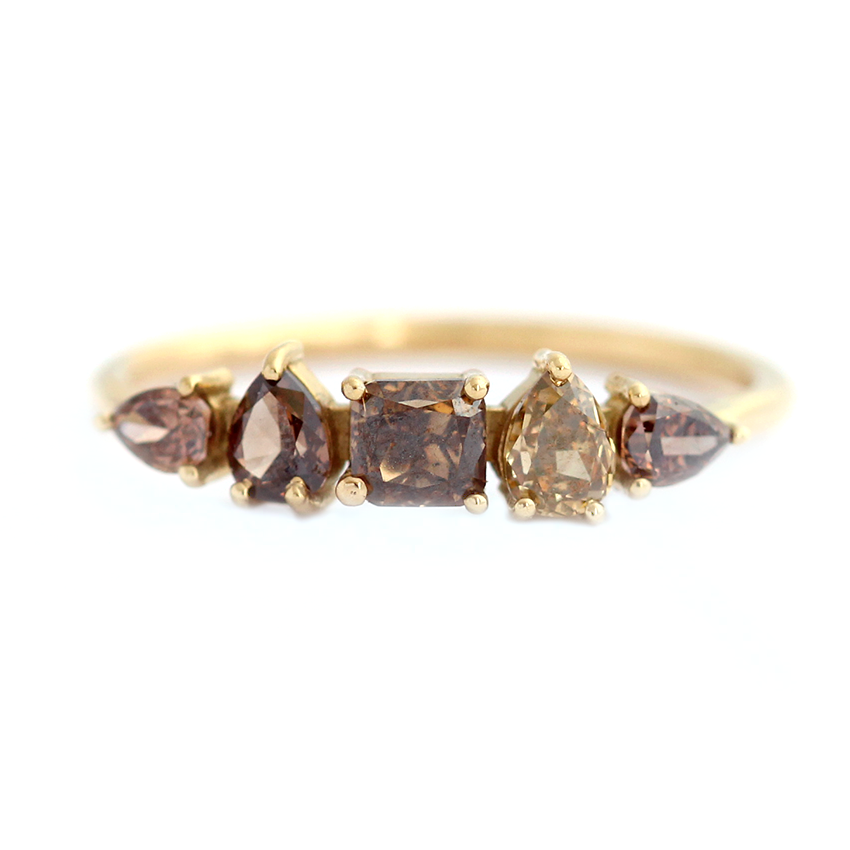 b brilliant diamond brown index deep coppery color doody yellow fancy round loose jewelry