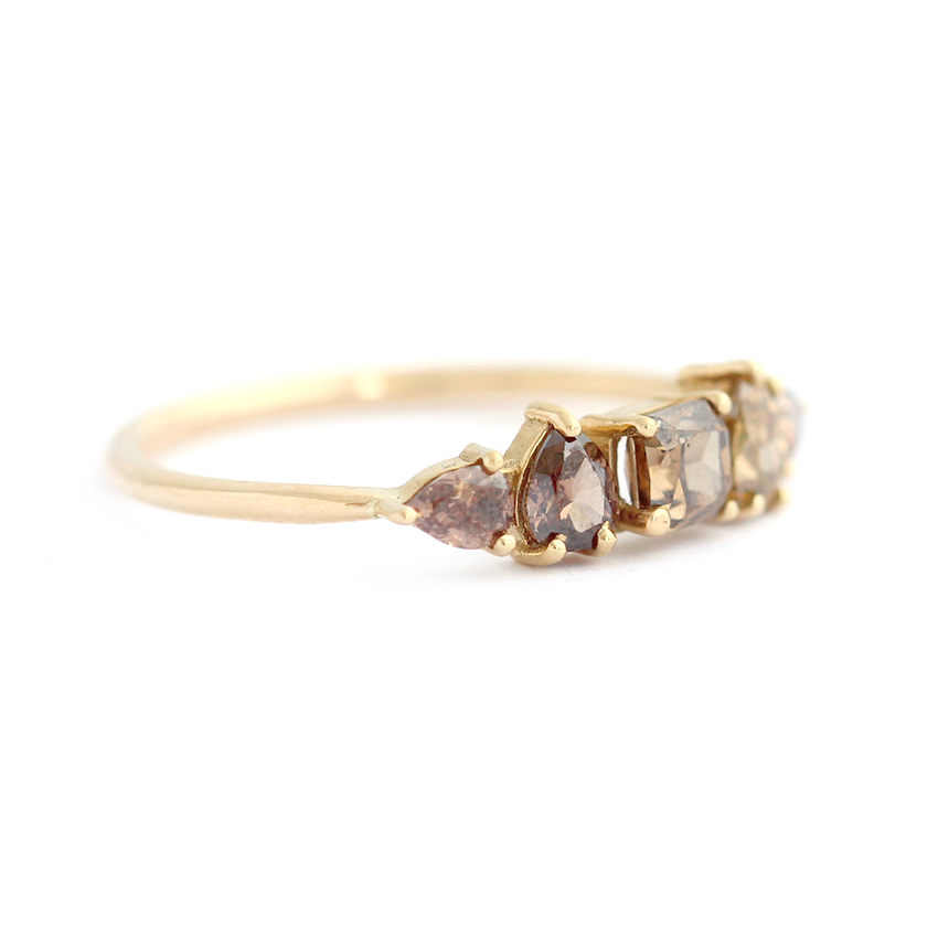 ring satomi diamond w hexagon misch kawakita brown products rings of