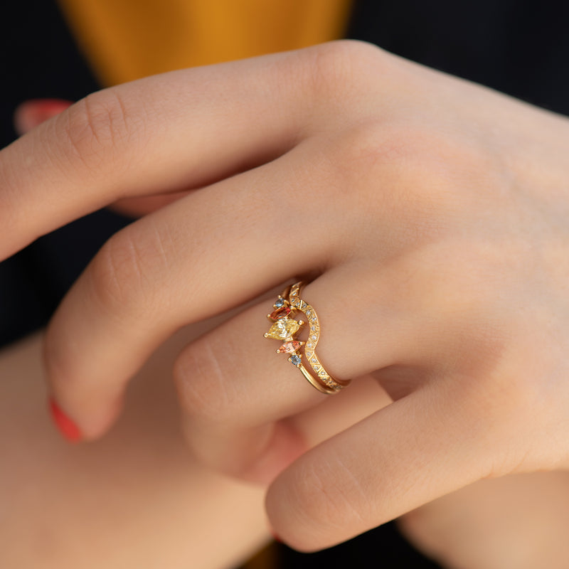 Candy-Colored-Engagement-Ring-with-a-Fancy-Yellow-Diamond-OOAK-side-shot-in-set