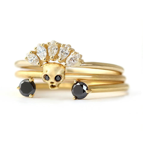 Cat Skull Wedding Set