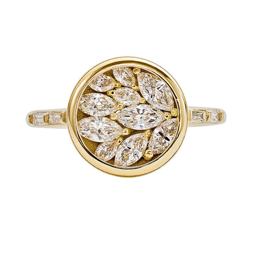 Cluster-Engagement-Ring-with-Marquise-Diamond-Petals-closeup