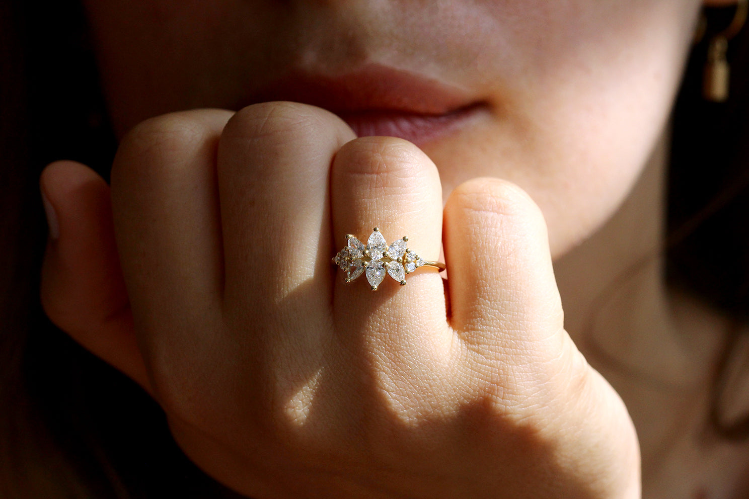 Cluster Ring Set With Diamonds For Women