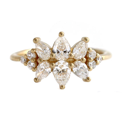 Cluster Ring Set With Diamonds