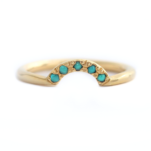 Five Turquoise Wedding Band