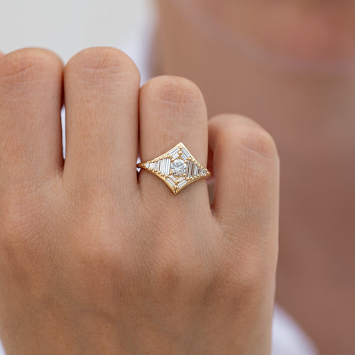 Baguette Diamond Star Ring1