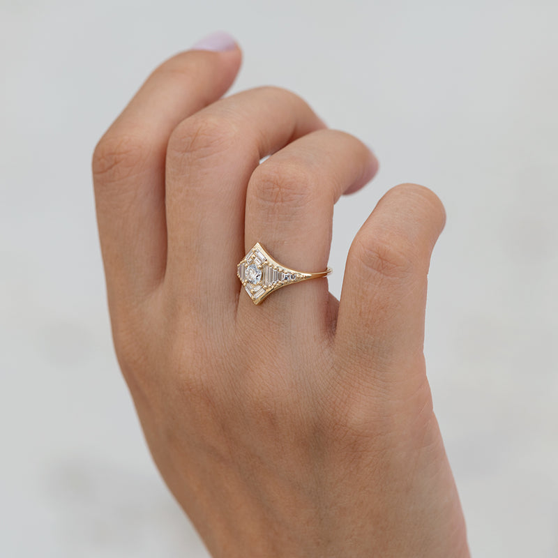 Baguette Diamond Star Ring4