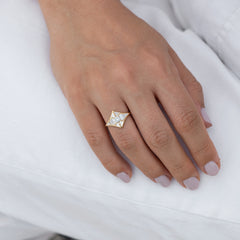 Baguette Diamond Star Ring5