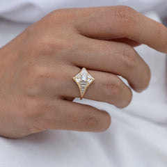 Baguette Diamond Star Ring6