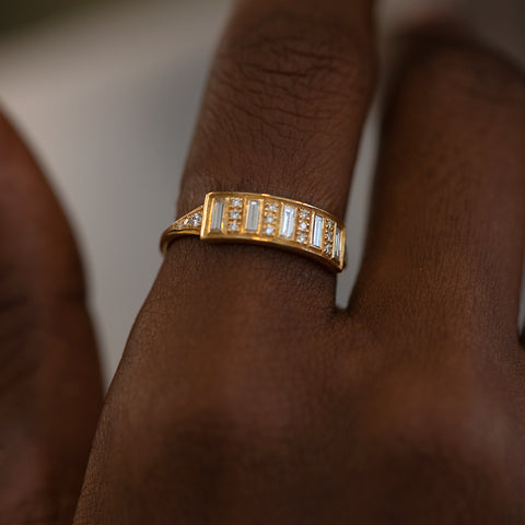 Baguette Diamond Bar Ring1