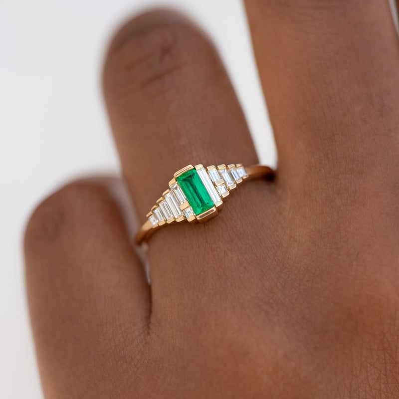 Dainty-Emerald-Engagement-Ring-with-Needle-Baguette-Diamonds-top-shot