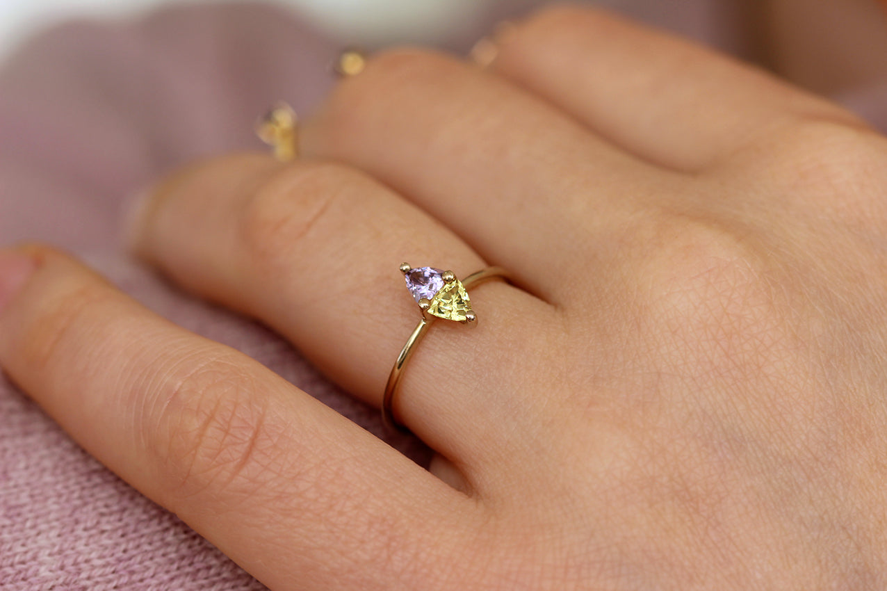 Dainty Geometric Ring