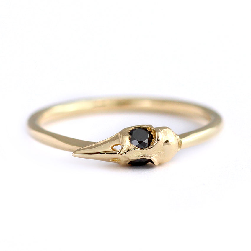 Dainty Gothic Gold Ring