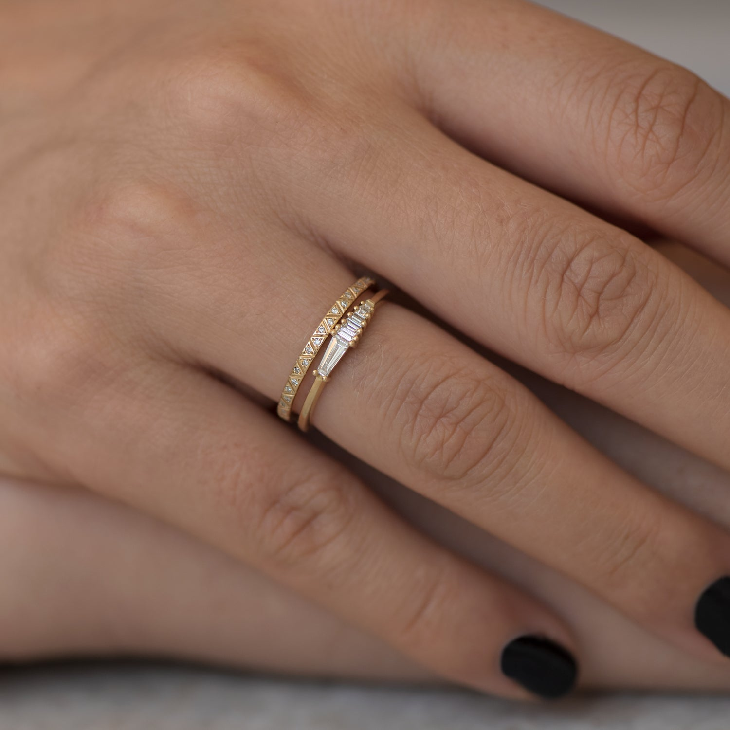 Dainty-Trapeze-Diamond-Ring-Geometric-Cluster-Ring-top-shot-in-set