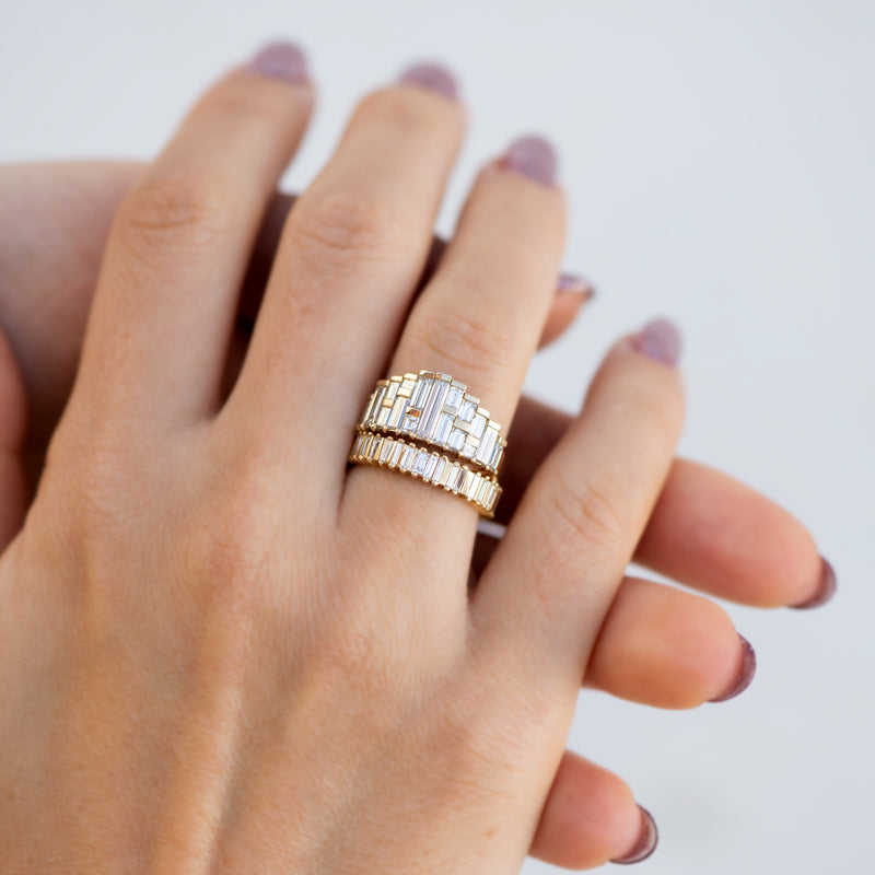 Deco-Diamond-Engagement-Ring-with-Top-Light-Brown-Baguettes-in-set-