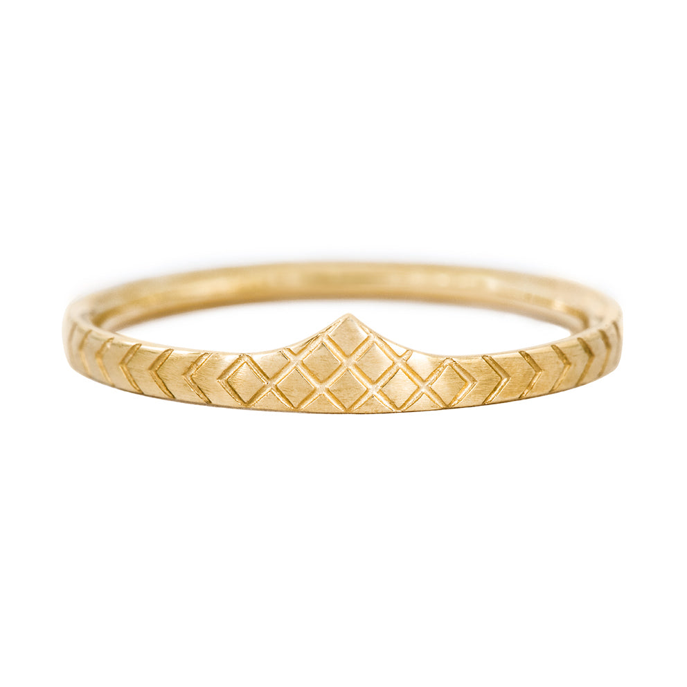 Delicate Wedding Band - Patterned Ring