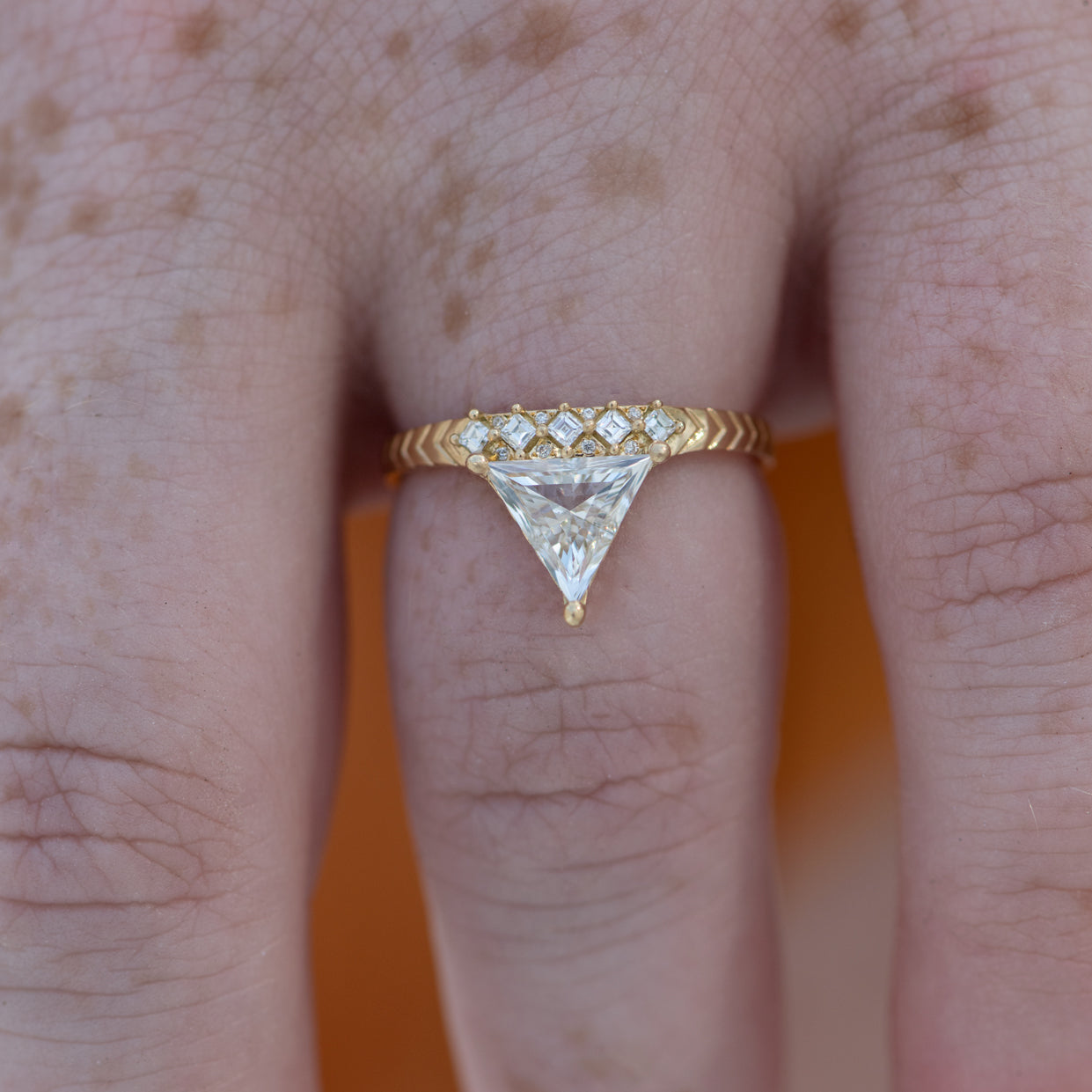 Detailed-Triangle-Diamond-Ring-with-Gold-Pattern-0.5-carat-top-shot