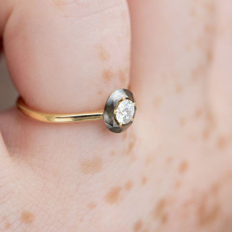 Diamond-Sphere-Engagement-Ring-OOAK-in-set-closeup-side