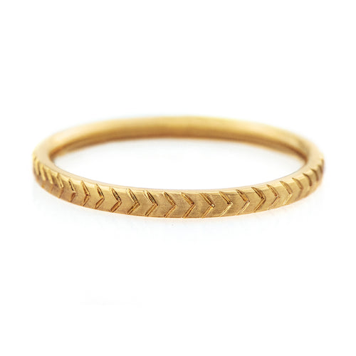 Engraved Geometric Pattern Wedding Band
