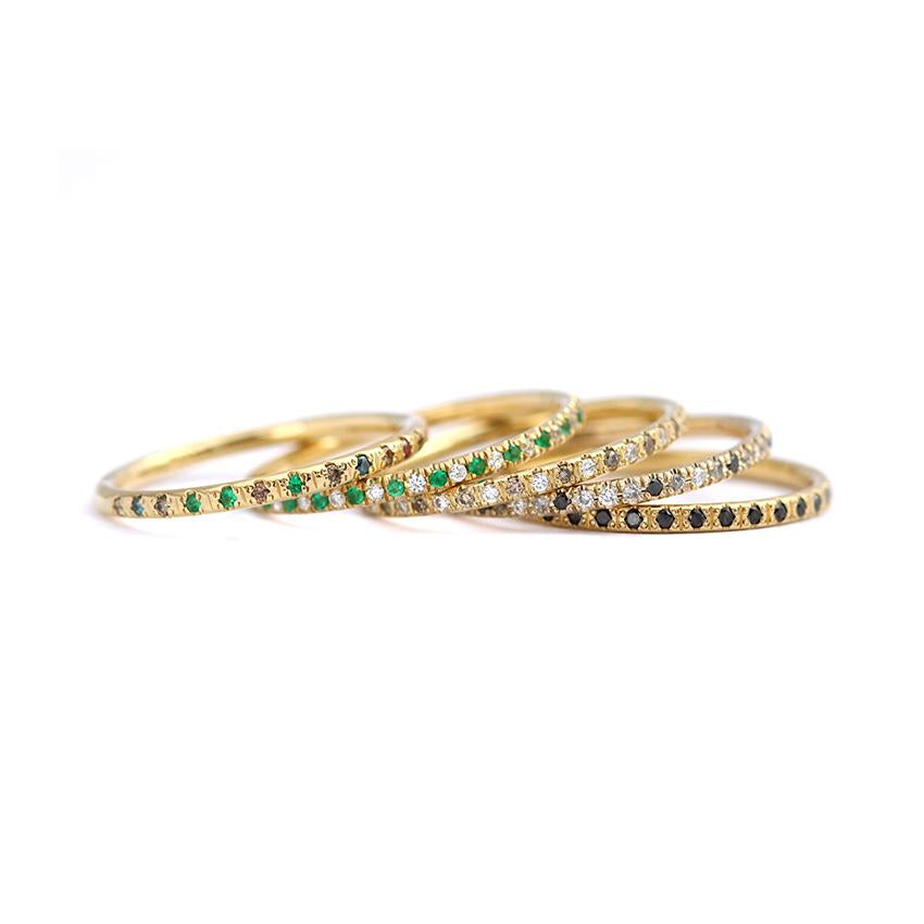 Colorful Diamond Eternity Rings