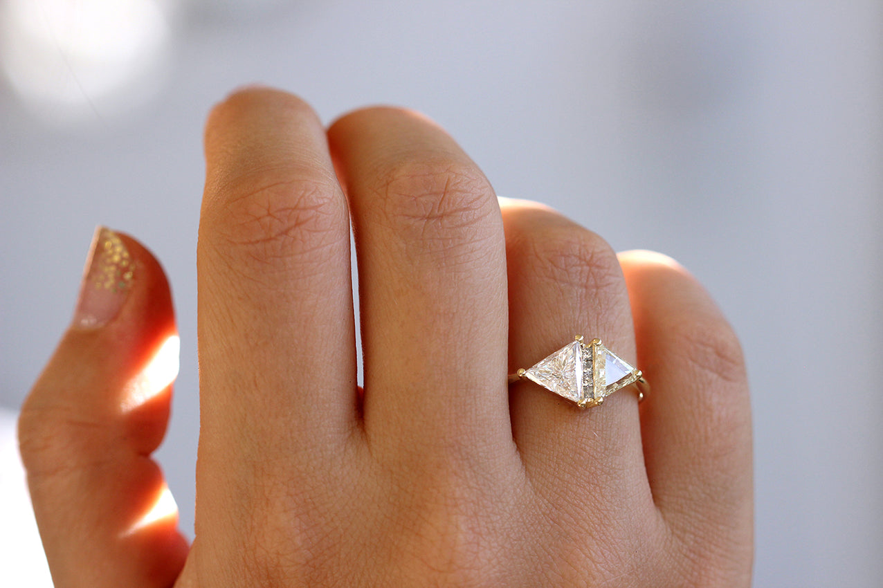 Fancy Yellow Rhombus Diamond Ring