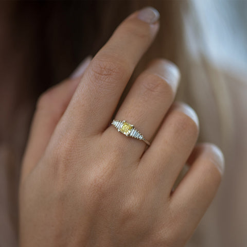 Fancy Yellow Diamond Ring on hand
