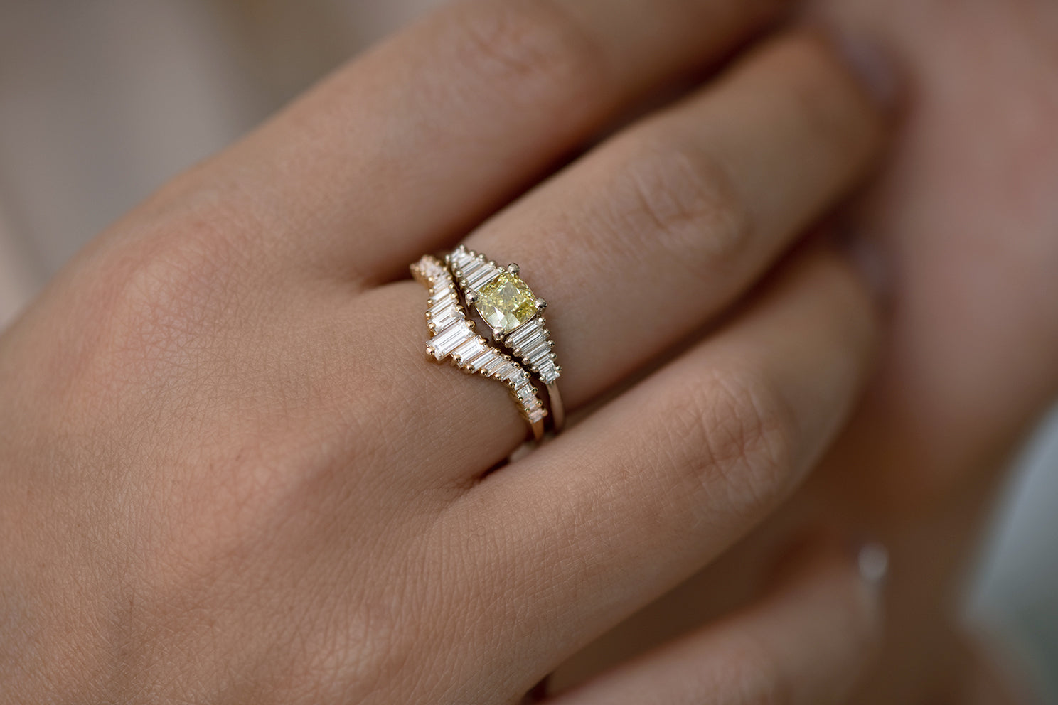 Fancy Yellow Diamond Ring set
