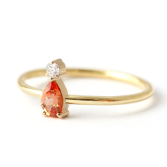 orange sapphire ring gold