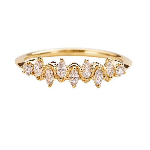 Floating-Marquise-Cut-Cluster-Ring-with-Nine-Diamonds-closeup