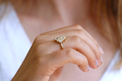 Flower Diamond Cluster ring