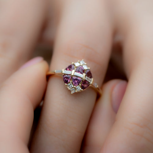 Garnet-and-Diamond-Cluster-Engagement-Ring-shiny