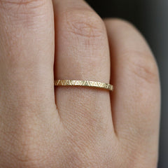Geometric Engraved Ring