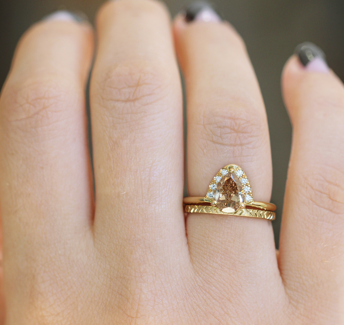 engagement baguette rings ring geometric solid diamond gold media