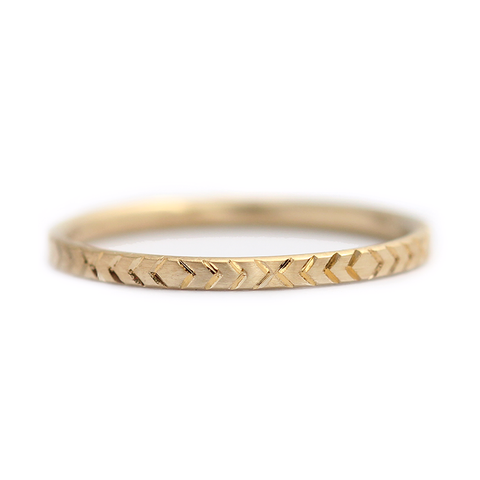 Gold Pattern Ring
