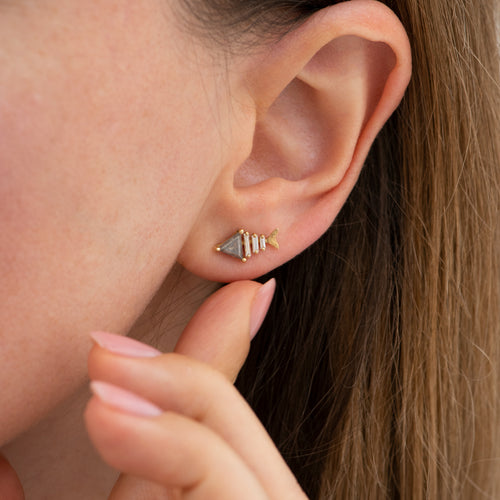 Gold-Fish-Bone-Earrings-with-Triangle-and-Baguette-Cut-Diamond-top-shot-moment