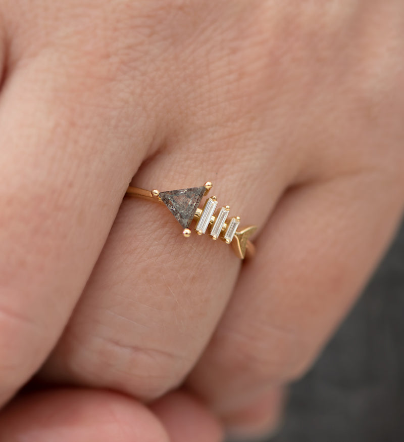 Gold-Fish-Bone-Ring-with-Triangle-and-Baguette-Cut-Diamond-top-shot