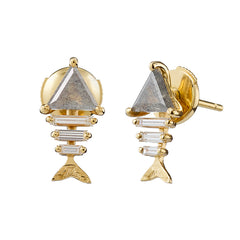 Gold-fish-Bone-Earrings-with-Triangle-and-Baguette-Cut-Diamond-top-shot-closeup