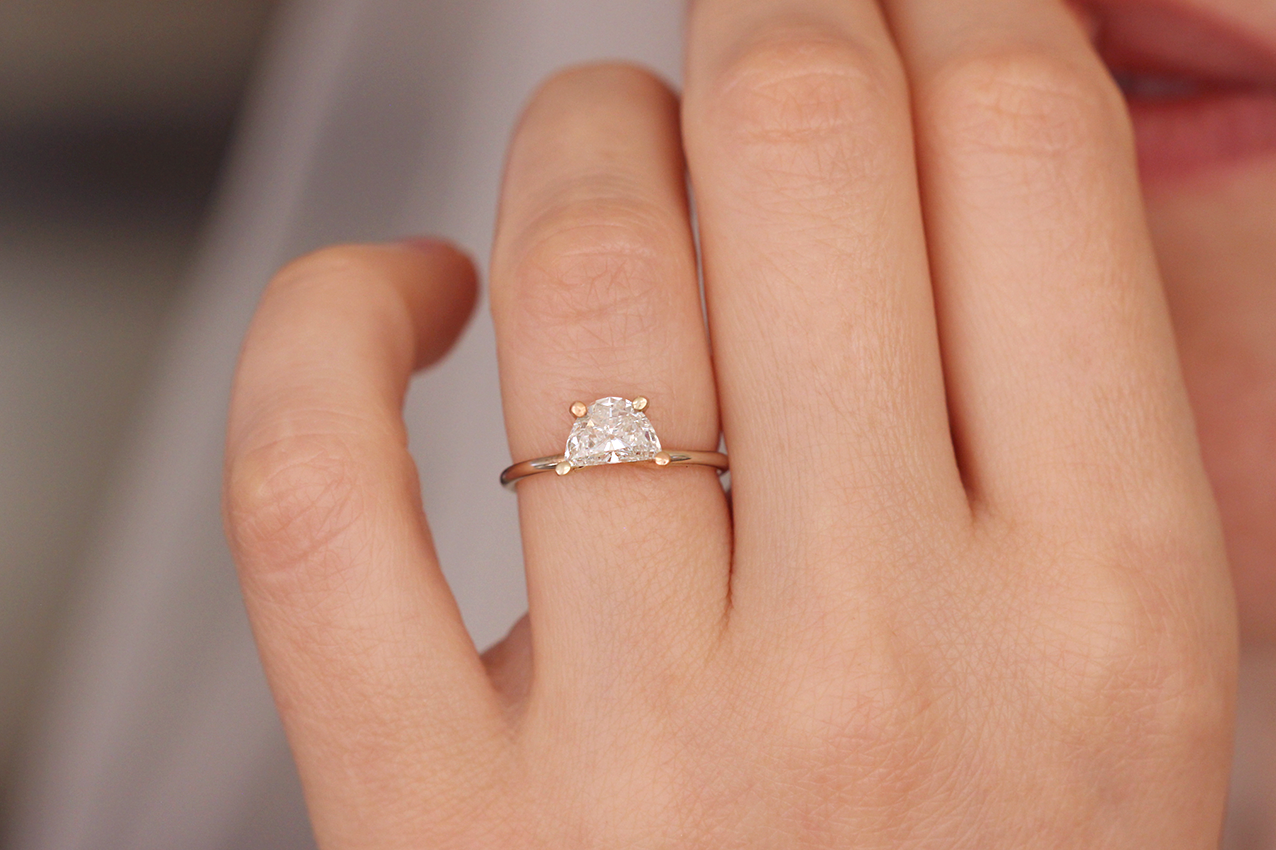 Classy solitaire diamond engagement