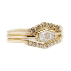 Champagne Crown Ring