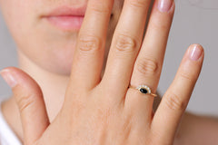 Onyx Ring with Diamonds