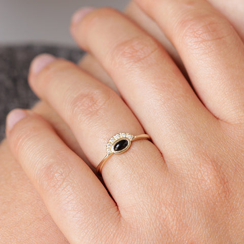 Hidden Heart Ring on hand