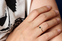 Hidden Heart Ring with Diamonds