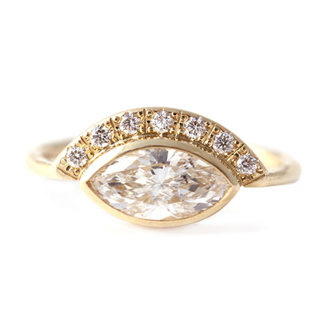 Marquise Diamond Crown Ring