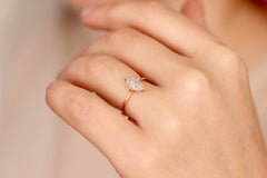 marquise diamond ring on finger