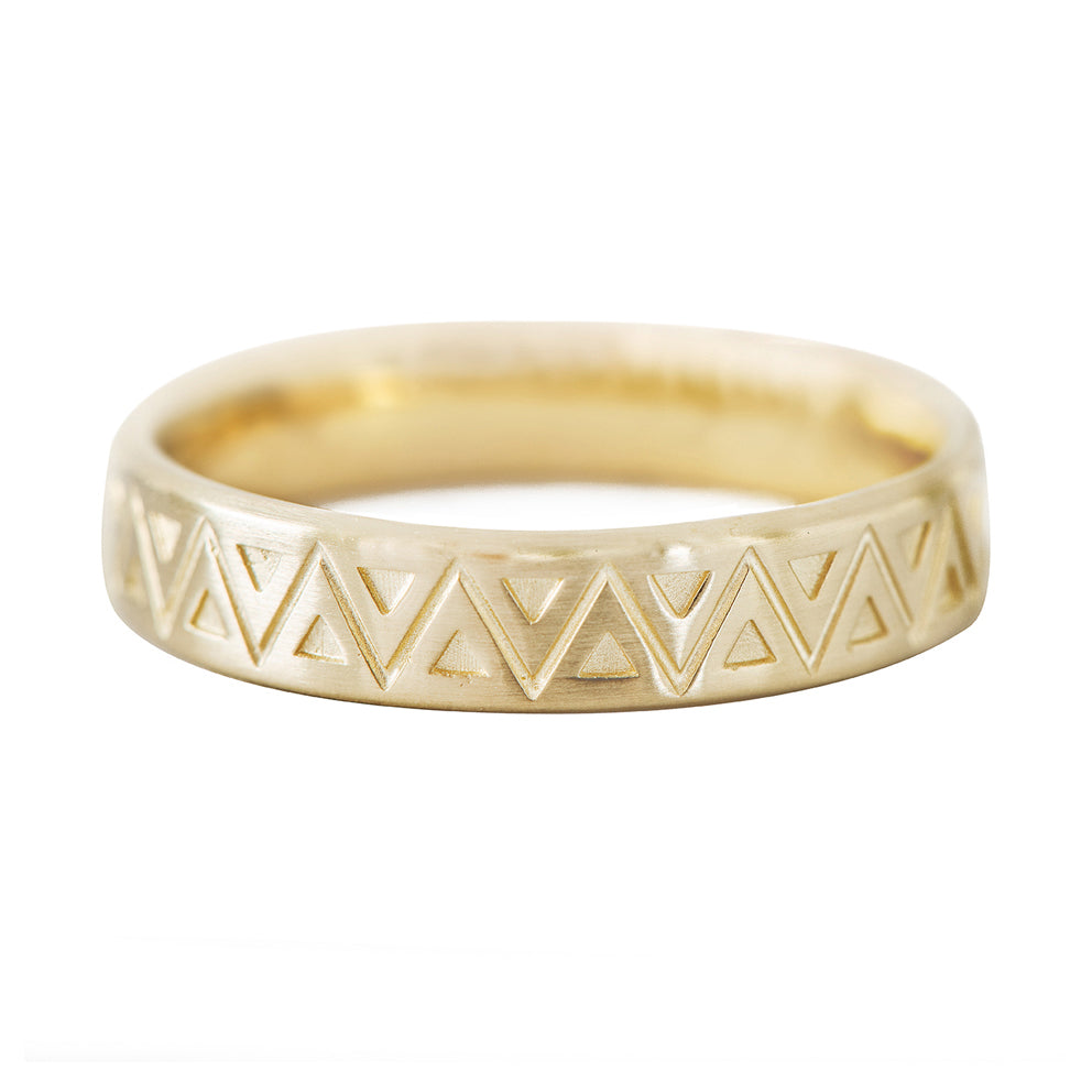Men's Geometric Wedding Band