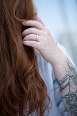 Minimalist-Diamond-Ring-Long-Baguette-Solitaire-Ring-OOAK-freckles