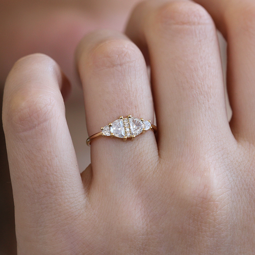 half moon engagement ring