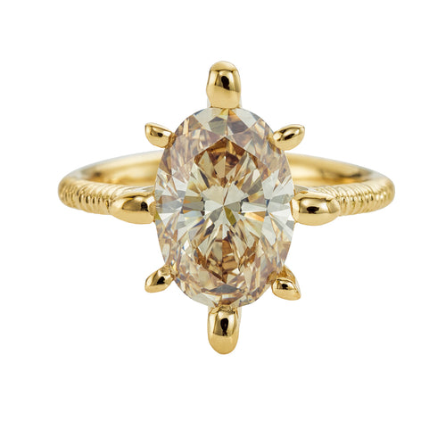 OOAK-Champagne-Diamond-Engagement-Ring-with-Organic-Golden-Accenting-closeup